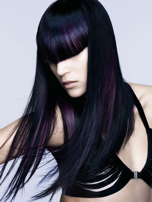 Purple Hair Color Idea 2011