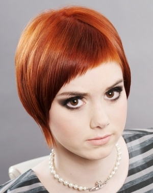 Red Hair Cute Hairstyles for round faces