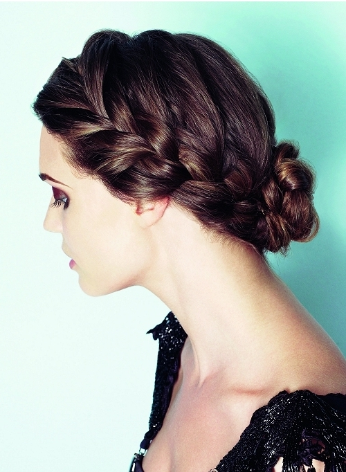 braided updo for long hairstyle