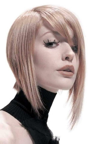 funky layered bob hairstyle