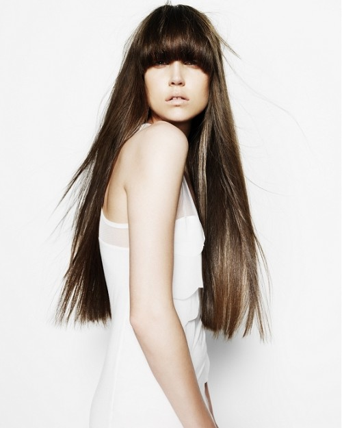 long hair with bangs cute hairstyle for teens